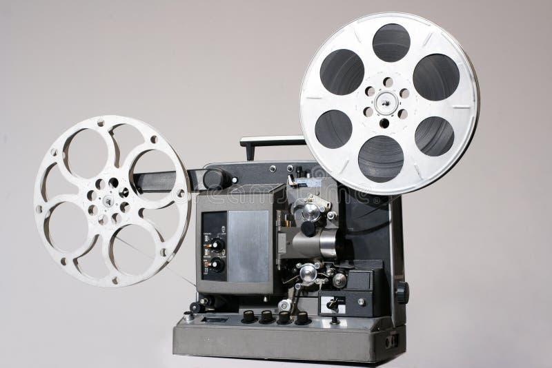 Rétro projecteur de film de 16mm images stock