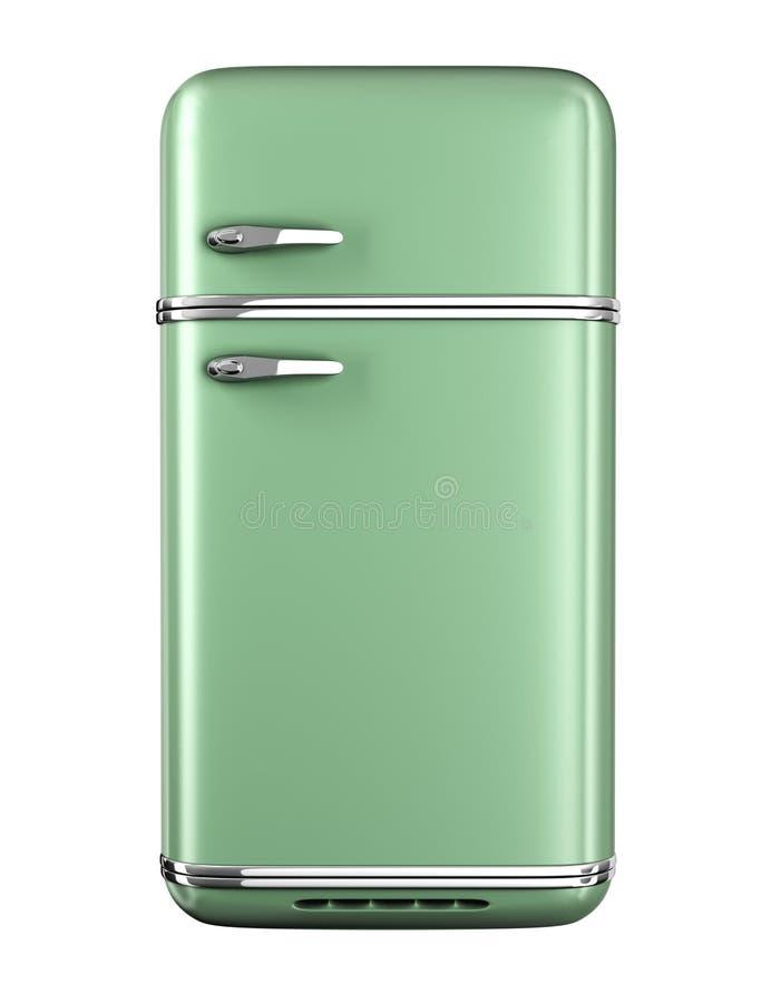 Rétro réfrigérateur illustration libre de droits
