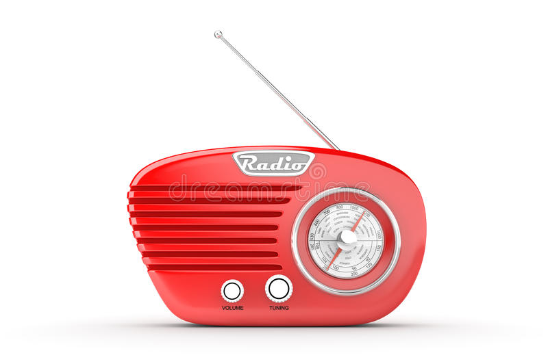 Rétro radio illustration de vecteur