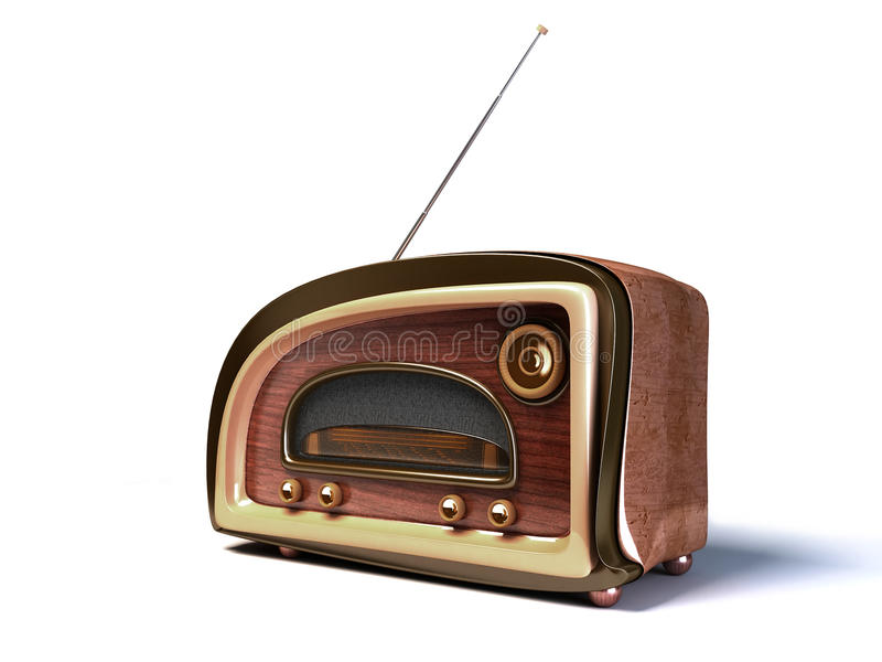 Rétro radio dénommée illustration de vecteur