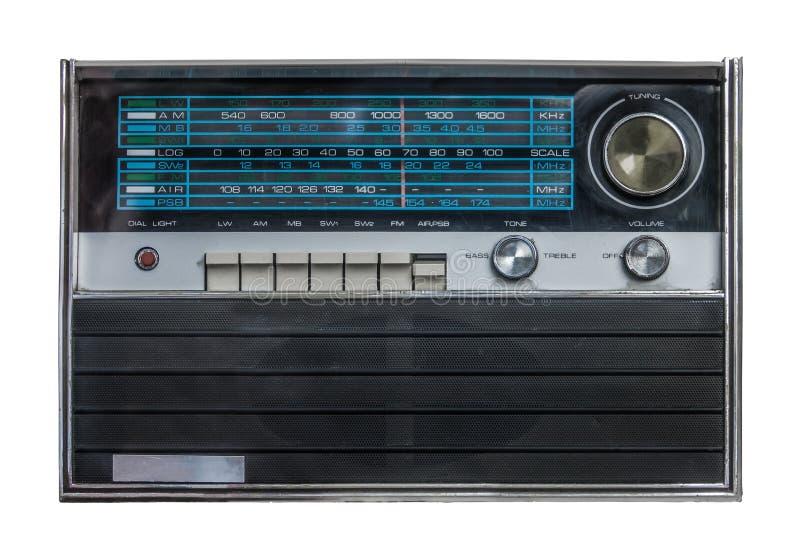 Rétro radio d'isolement photo stock
