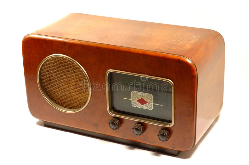 Rétro radio italienne images stock