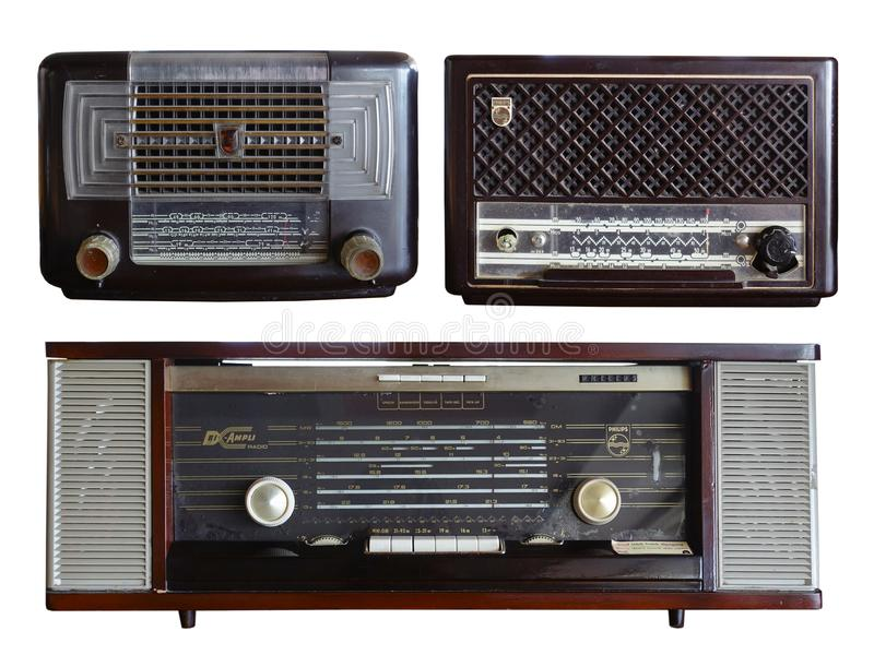 Rétro radio Philips Model photo stock