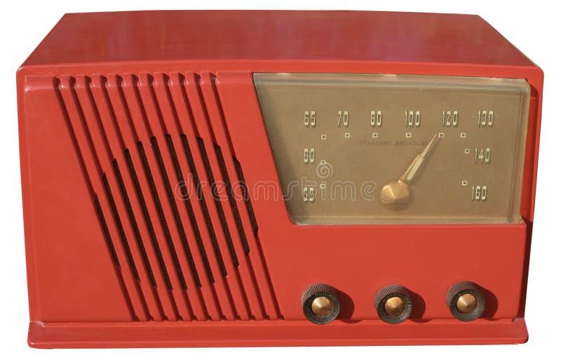 Rétro radio rouge photo stock