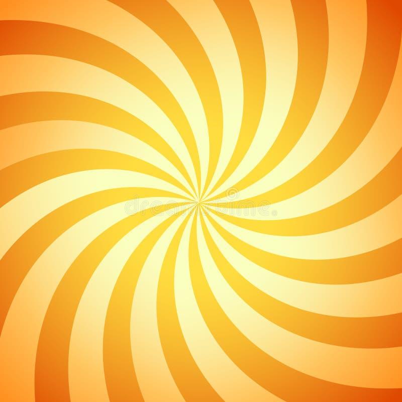 Rétro rayon de soleil de vecteur illustration libre de droits