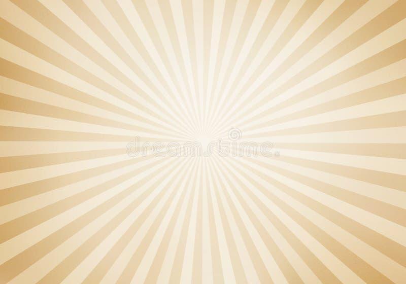 Rétro rayon de soleil de style et fond comique de bande dessinée de raies Grunge abstrait de cru avec la lumière du soleil illustration de vecteur
