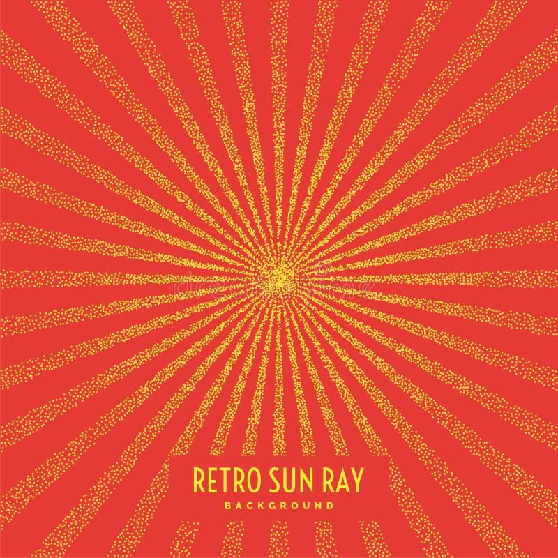 Rétro rayon du soleil sur le fond illustration libre de droits