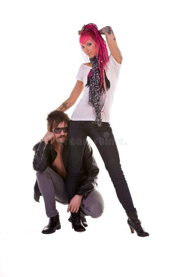 rétro roche de couples photos libres de droits