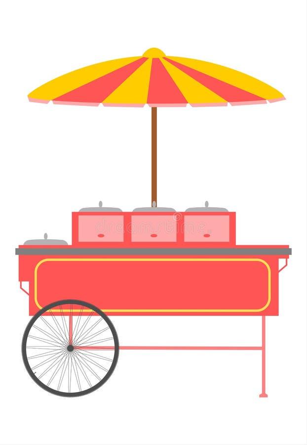 Chariot à Aliments De Préparation Rapide. Image libre de droits
