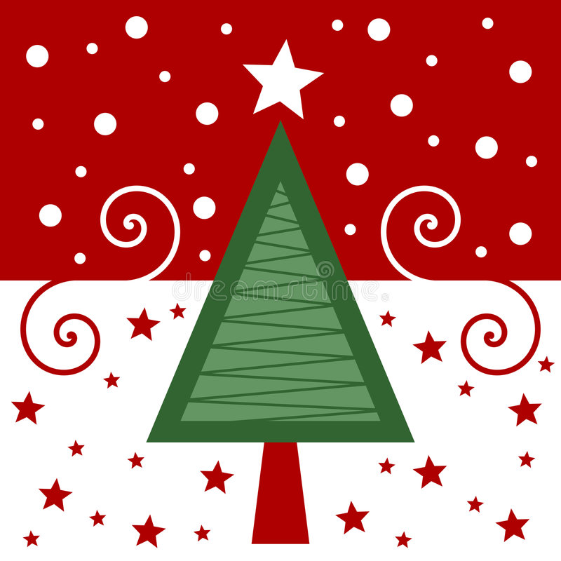 rétro rouge de Noël de carte illustration de vecteur