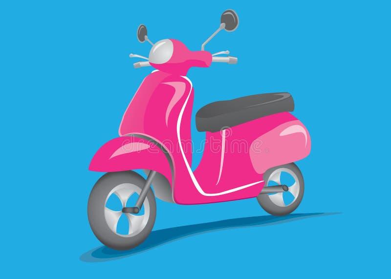 Rétro scooter illustration de vecteur