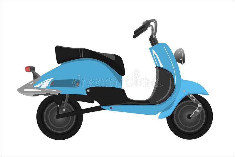 Rétro scooter illustration stock