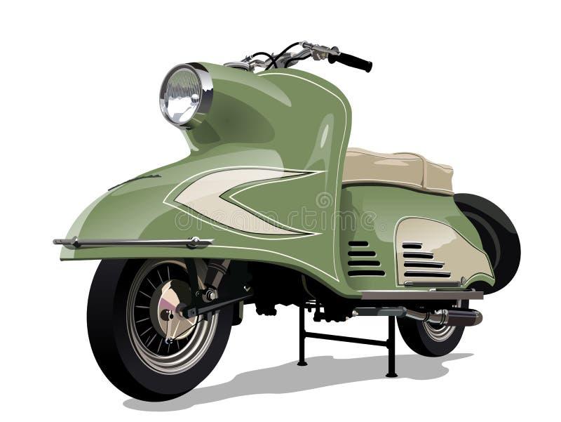 Rétro scooter de vecteur illustration libre de droits