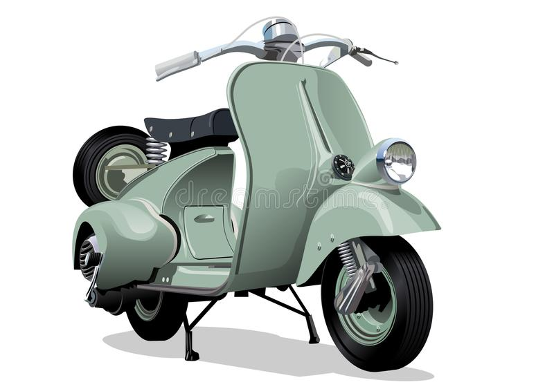 Rétro scooter de vecteur illustration de vecteur