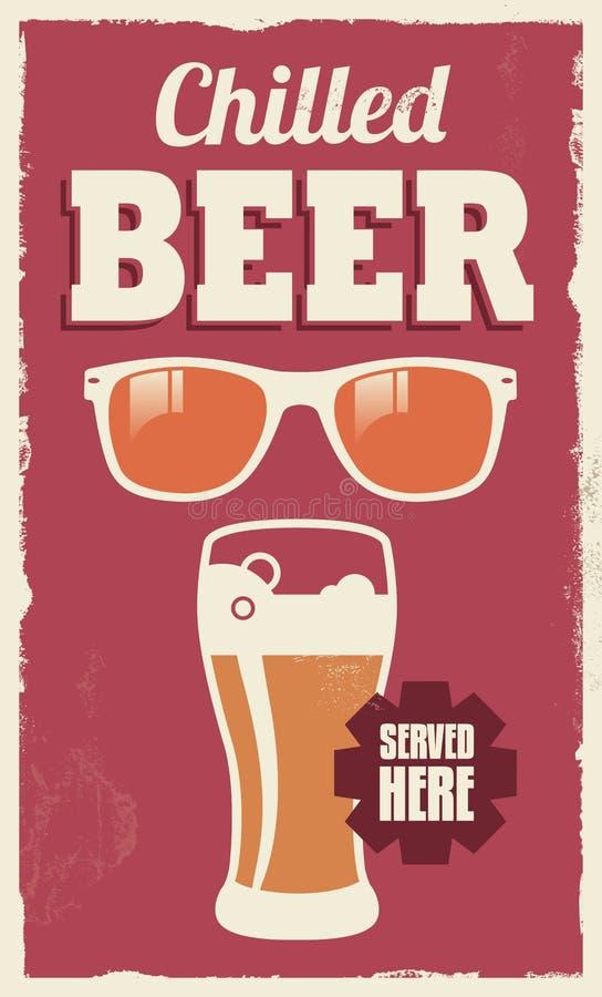 Rétro signe de bière de vintage illustration libre de droits