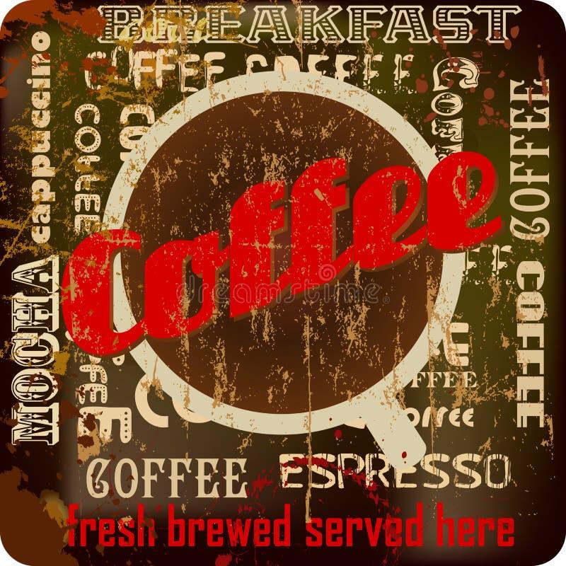 Rétro signe de café illustration libre de droits