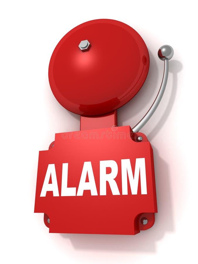 Rétro sonnette d'alarme rouge illustration de vecteur