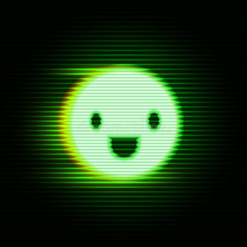 Rétro sourire d'affichage illustration de vecteur