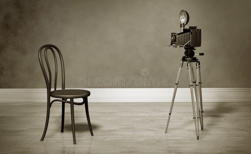 Rétro studio de photo images libres de droits