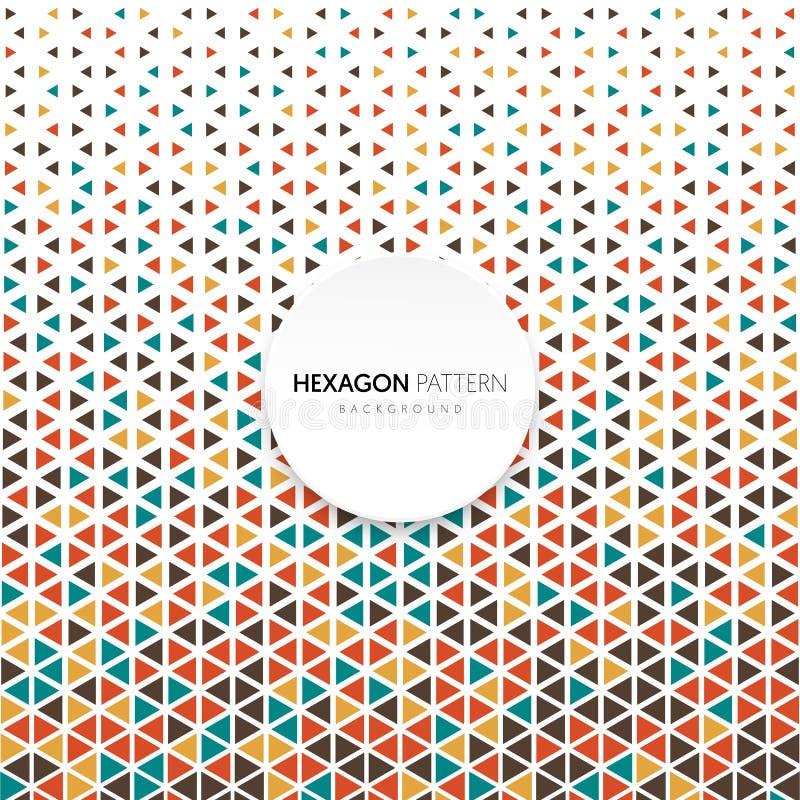Rétro style d'hexagone de forme de modèle de cru géométrique tramé abstrait de fond illustration libre de droits