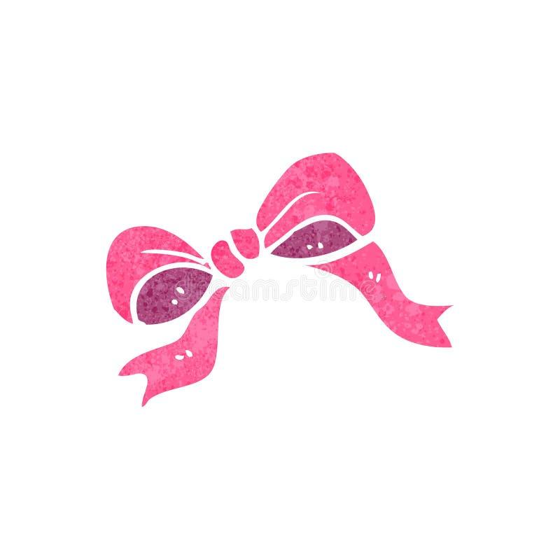 rétro symbole d'arc de rose de bande dessinée illustration de vecteur