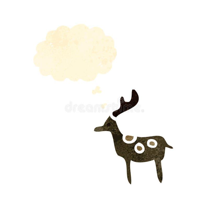 rétro symbole de renne de bande dessinée illustration libre de droits
