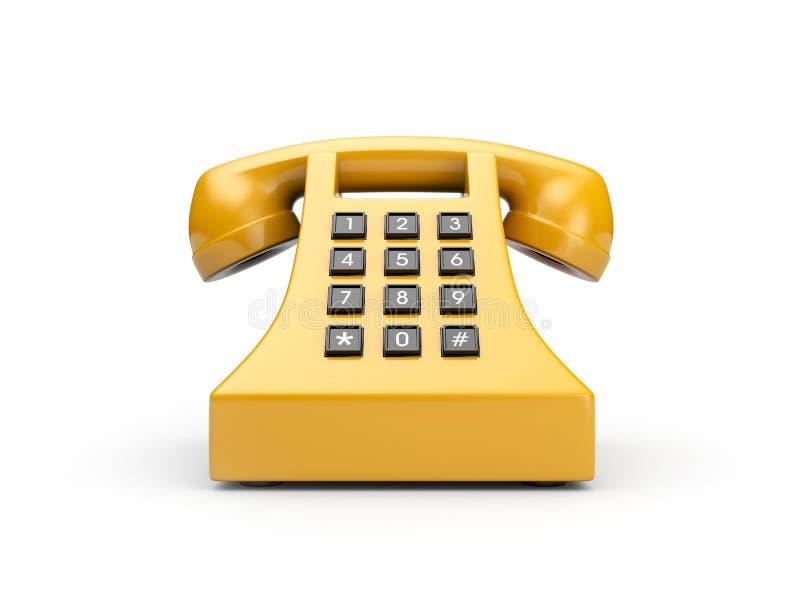 Rétro téléphone illustration stock