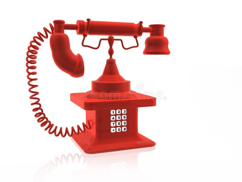 Rétro téléphone illustration libre de droits