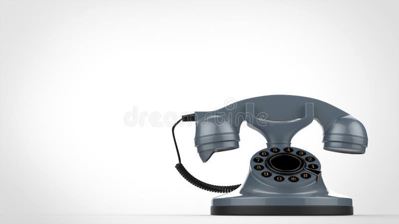Rétro téléphone bleu frais de vintage illustration stock