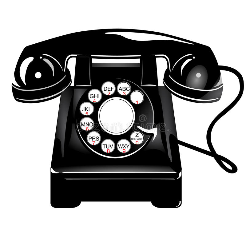 Rétro téléphone de type illustration libre de droits