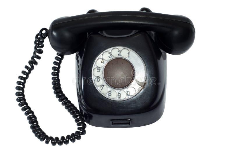 Rétro téléphone noir antique photos libres de droits