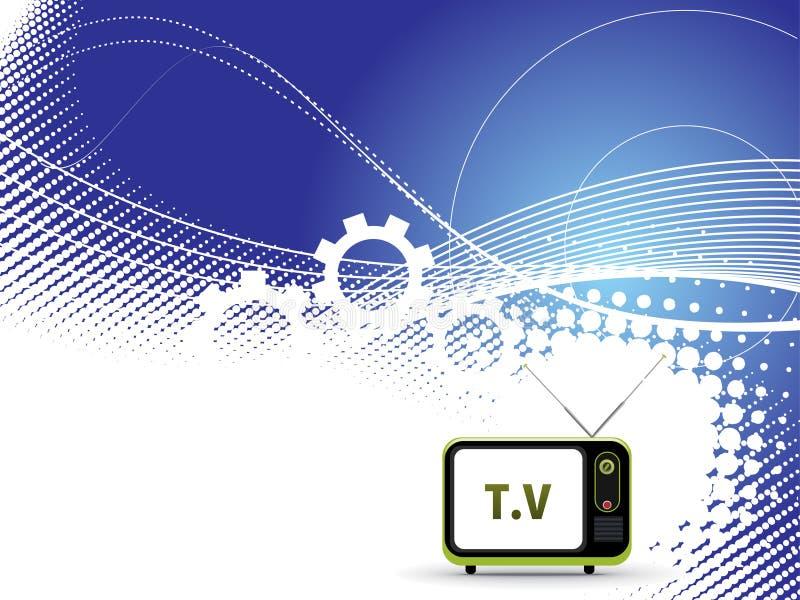 Rétro télévision. illustration stock