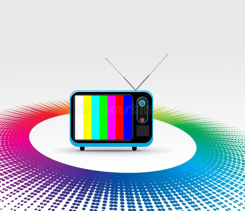 Rétro télévision illustration de vecteur