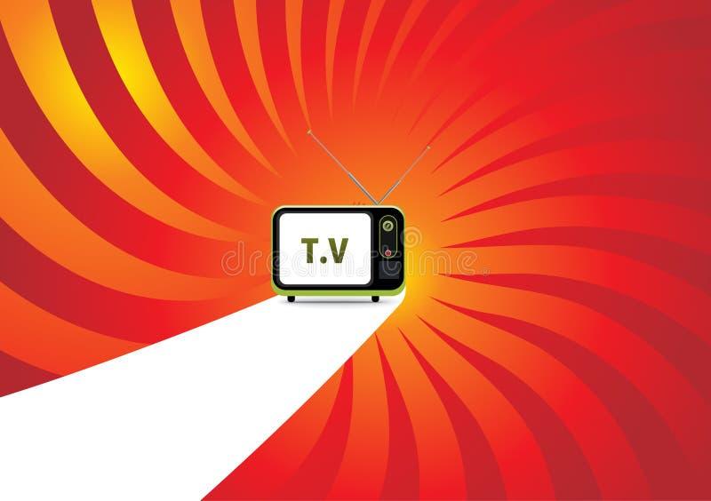 Rétro télévision. illustration de vecteur