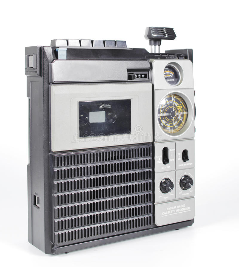 Rétro tapeplayer, radio images libres de droits