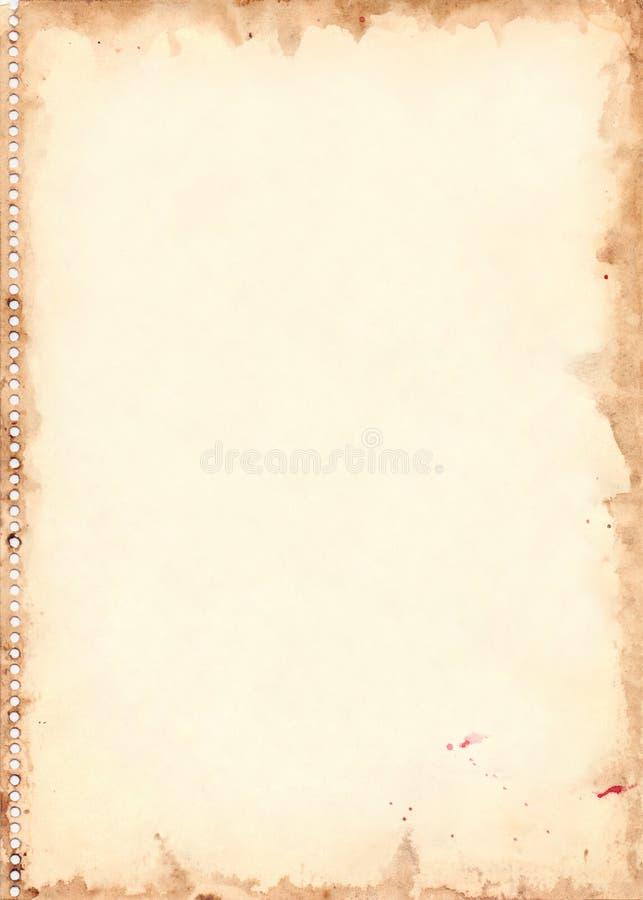 Rétro texture de grunge de fond de feuille d'aquarelle de vintage illustration libre de droits