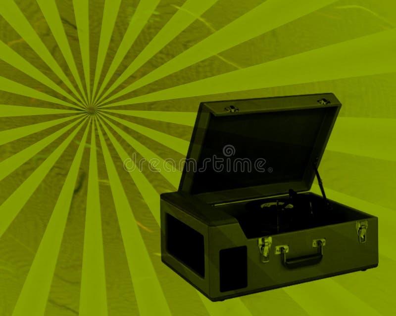 Rétro tourne-disque photographie stock libre de droits