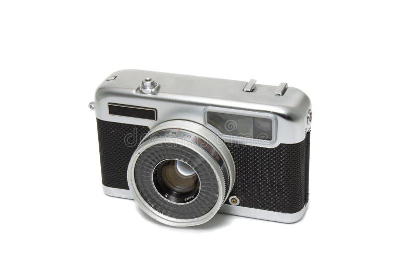 Rétro tout l'appareil-photo de télémètre en métal photos stock