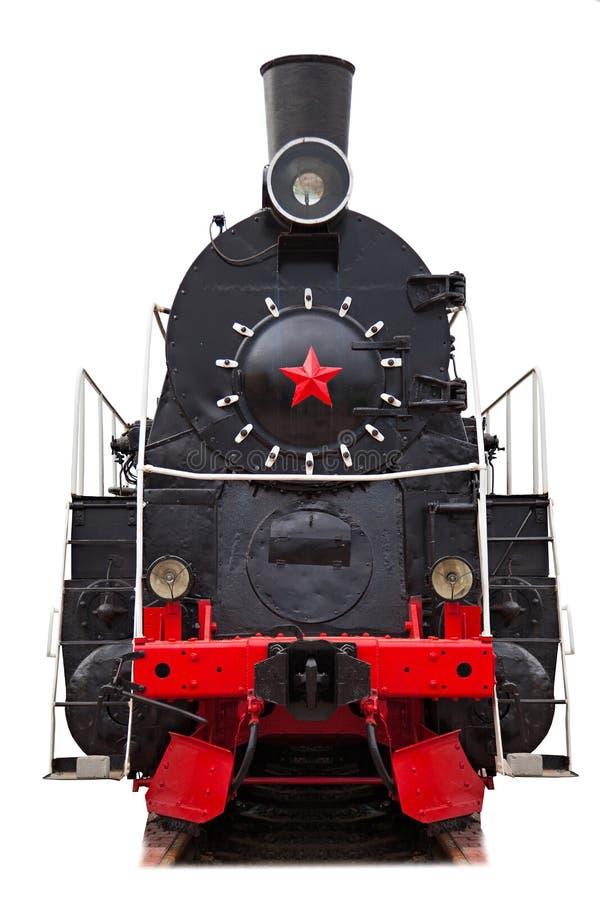 Rétro train, d'isolement image libre de droits