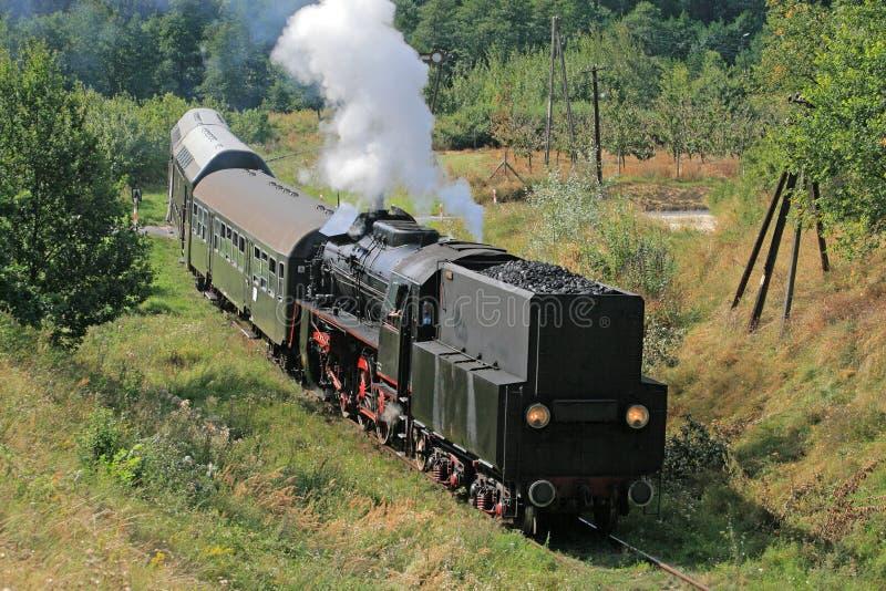 Rétro train de vapeur photographie stock