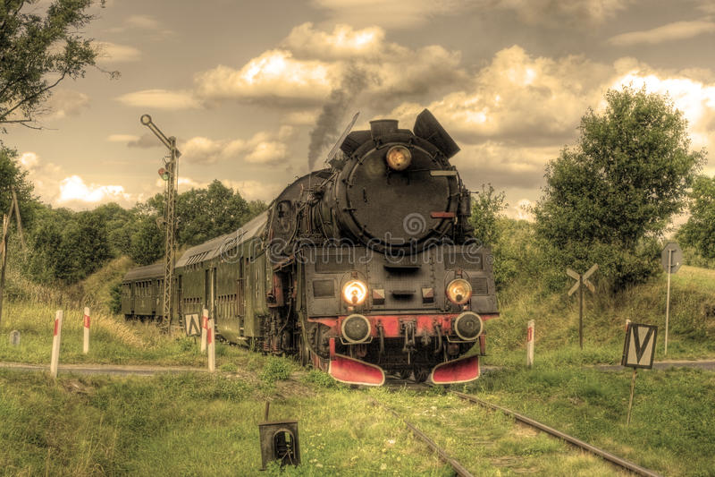 Rétro train de vapeur photos stock