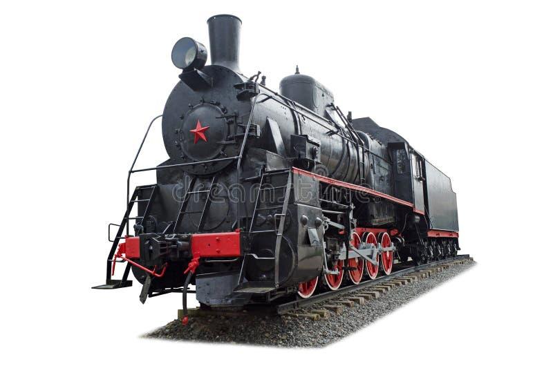 Rétro train de vapeur photographie stock libre de droits