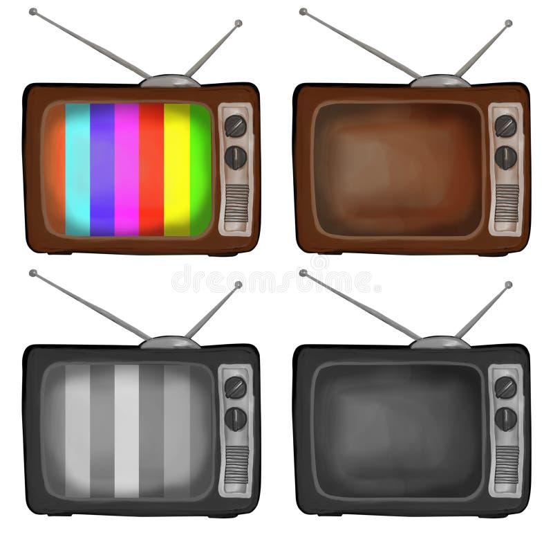 Rétro TV illustration de vecteur