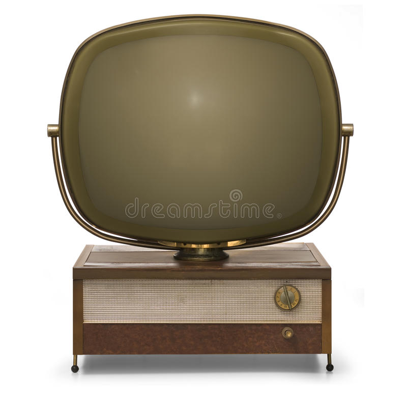 rétro TV images libres de droits