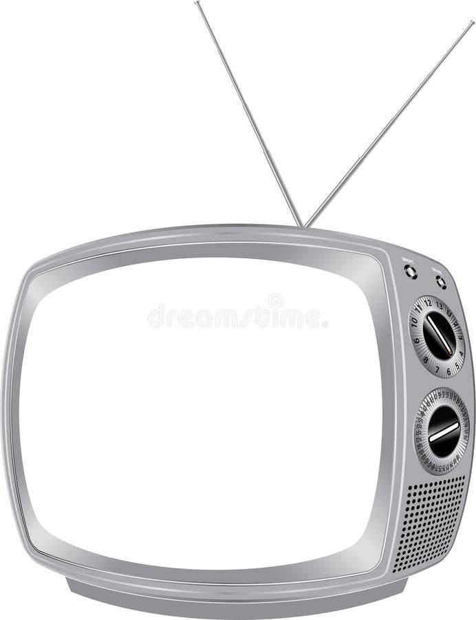 rétro TV blanc illustration libre de droits
