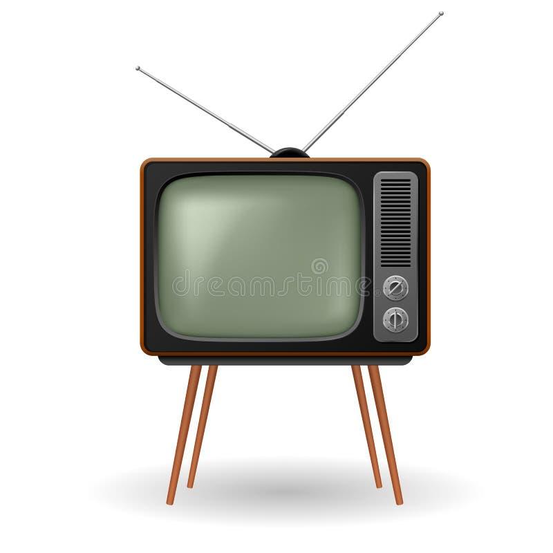 Rétro TV démodée illustration de vecteur