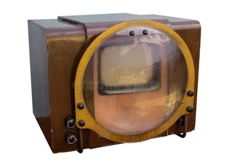 Rétro TV d'échantillon Soviétique-fait de 1958 images libres de droits