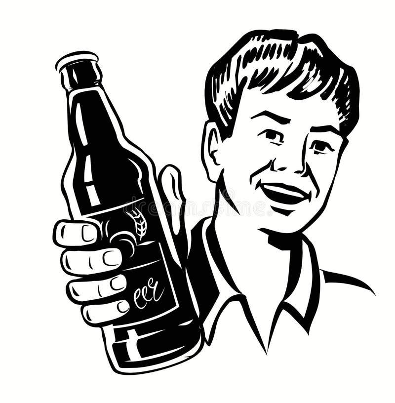 Rétro type de bière illustration libre de droits