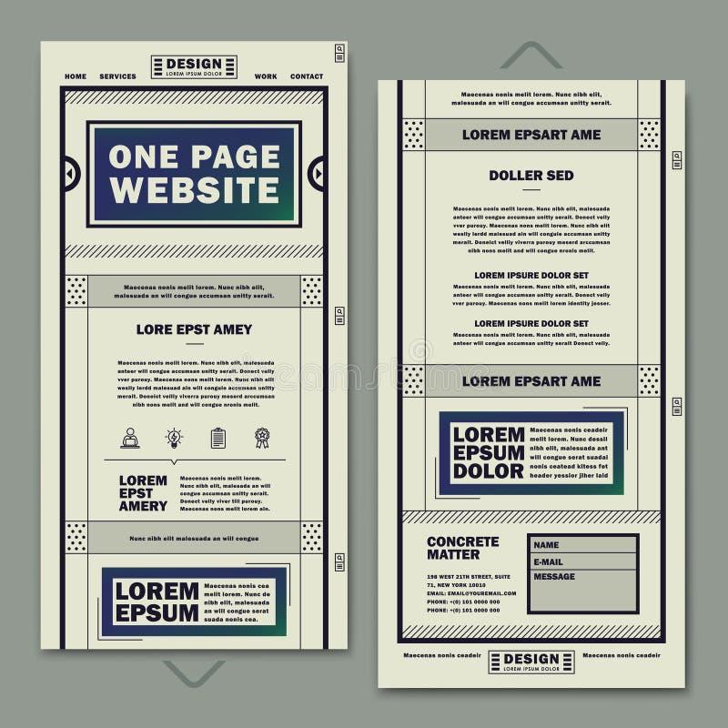 Rétro une conception de calibre de site Web de page illustration de vecteur