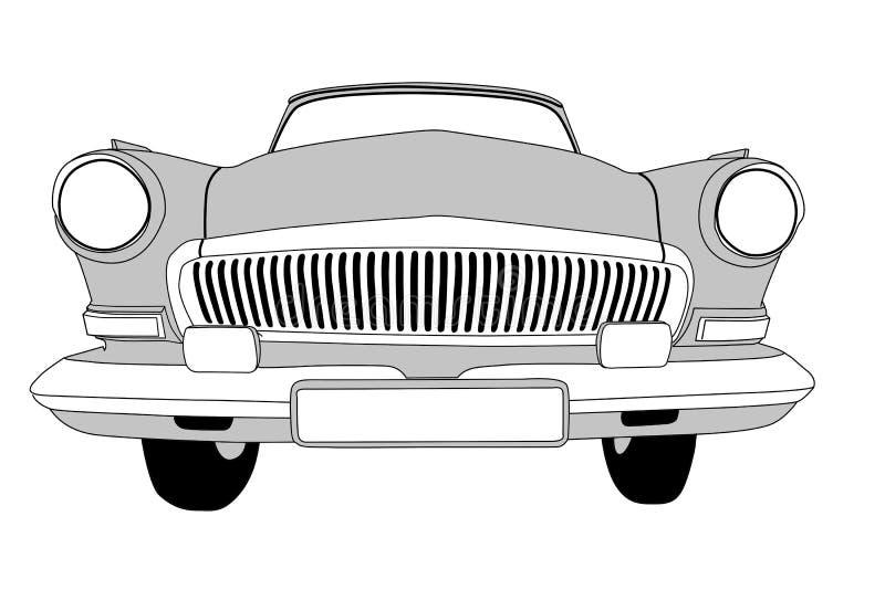 Rétro véhicule illustration de vecteur